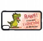 Funny Rawr Means I Love You In Dinosaur Slogan Cartoon Design Mobile Phone Case To Fit iPhone